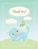 De babyjongen dankt u standaardprentbriefkaar royalty-vrije illustratie