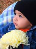 De babyjongen en Herfst Royalty-vrije Stock Fotografie