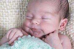De babyjongen van de slaap stock afbeelding