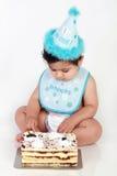 De babyjongen van de verjaardag stock fotografie