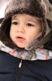 De babyjongen van de winter Stock Afbeeldingen