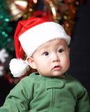 De babyjongen van Kerstmis royalty-vrije stock fotografie