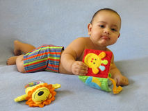 De babyjongen van zeven maanden Royalty-vrije Stock Foto's