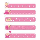 De babymeisje van banners Stock Fotografie