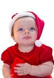 De babymeisje van de Kerstman Royalty-vrije Stock Fotografie