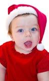 De babymeisje van de Kerstman Stock Afbeelding