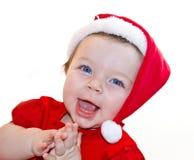 De babymeisje van de Kerstman Royalty-vrije Stock Foto's