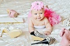 De babymeisje van de manier Stock Afbeeldingen