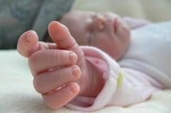 De babymeisje van de slaap Royalty-vrije Stock Afbeeldingen