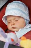 De babymeisje van de slaap. royalty-vrije stock fotografie
