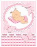 De babymeisje van de slaap stock illustratie
