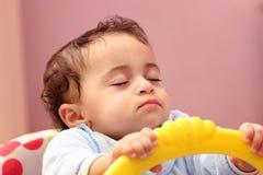 De babymeisje van de slaap Stock Foto