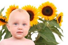 De babymeisje van de zomer Stock Afbeeldingen