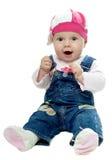 De babymeisje van Nice Royalty-vrije Stock Afbeeldingen