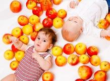 De babys van de appel royalty-vrije stock foto