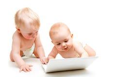 De babys van de computer royalty-vrije stock afbeeldingen