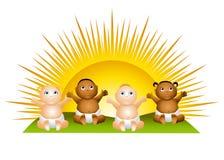 De Babys van de zon knippen Art. Stock Foto