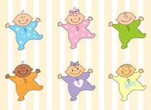 De babys van het beeldverhaal Stock Foto's