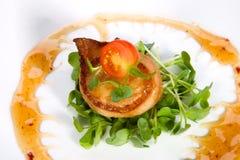 De bacon-verpakte Kammosselen van de Soja van de Gember Royalty-vrije Stock Foto