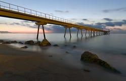 De Badalona Pont Del Petroli Lizenzfreie Stockbilder