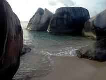 De baden in B.V.I. in de Caraïben Stock Foto's
