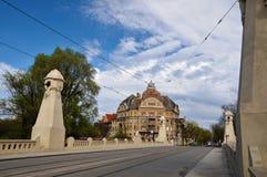 De baden Neptun in Timisoara, Roemenië stock fotografie