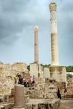 De Baden van Antonine met toeristen Stock Fotografie