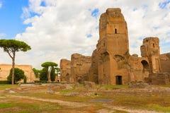 De baden van Caracalla in Rome, Italië Stock Afbeeldingen