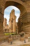 De baden van Caracalla in Rome, Italië Royalty-vrije Stock Foto