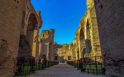 De Baden van Caracalla in Rome, Italië: de seconde van de stad - grootste Roman openbare baden, of thermae royalty-vrije stock foto