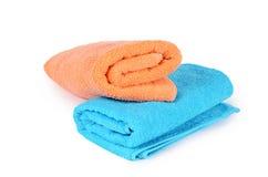 De badhanddoek op wit Stock Foto's