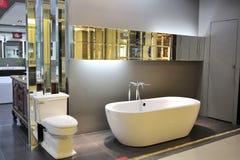 De badkamers toont stock afbeeldingen