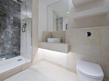 De badkamers van de luxe met marmer Stock Afbeeldingen