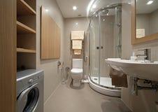 De badkamers van de ontwerper stock fotografie