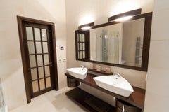 De badkamers van ?omfortable Stock Fotografie