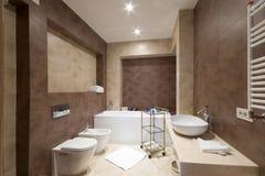 De badkamers van ?omfortable Stock Foto