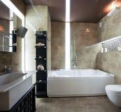 De badkamersbinnenland van de luxe Stock Foto