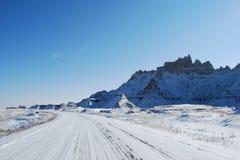 De Badlands-wegreis in November Royalty-vrije Stock Fotografie