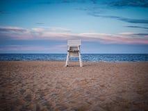 De Badmeester Chair van het Rehobothstrand Stock Foto