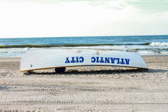 De Badmeester Rescue Boat van Atlantic City Stock Foto