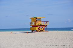 De badmeesterpost van Miami Royalty-vrije Stock Foto