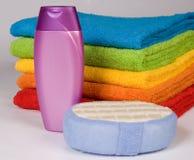 De badstofhanddoeken van de kleur Royalty-vrije Stock Afbeelding