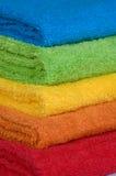 De badstofhanddoeken van de kleur Stock Foto