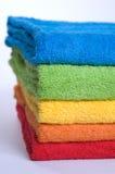 De badstofhanddoeken van de kleur Stock Foto's