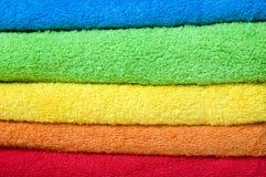 De badstofhanddoeken van de kleur Royalty-vrije Stock Foto