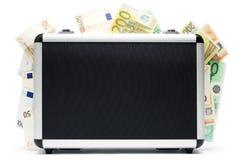 De Bagage van het geld Stock Foto's