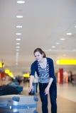 De bagage wint bij de luchthaven terug Royalty-vrije Stock Foto's