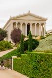 De Bahai trädgårdarna, Haifa arkivbilder