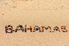 De Bahamas op het zand Royalty-vrije Stock Afbeeldingen
