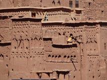 De Bak Haddu van Ksarajt dichtbij Warzazat in Marokko stock foto's